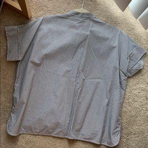 Everlane Tops - Everlane Striped Cotton Poplin Short Sleeve Shirt
